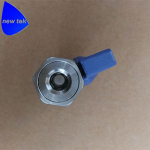 1/4. Forjada en acero inoxidable Mini válvula de bola (palanca roja) con rosca hembra termina