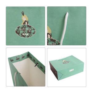 El papel vestido de novia y la belleza Cosmetic Bolsa de compras