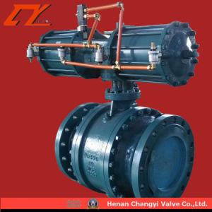 Valvola a sfera fissa pneumatica per le condutture interurbane e le condutture industriali generali
