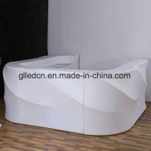 Neuer moderner geleuchtete LED Möbel des Lit-hoher Wellen-Stab-Kostenzähler