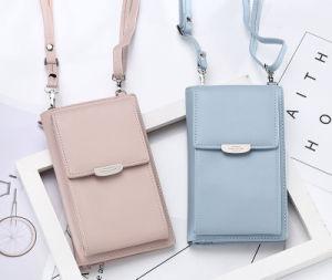 Saco Multi Color Senhora garota pequena mala bolsa Carteira de telefone com aba