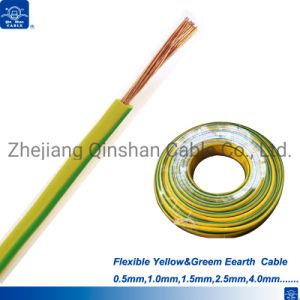 Желтый и зеленый ПВХ 1,5 мм 2,5 4.0mm провод кабеля
