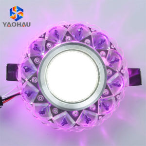 Voyant LED Downlight encastré plafond 3W Blanc chaud 5 W COB lampe de cristal
