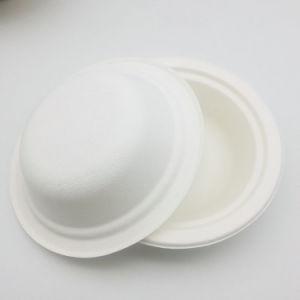 Pasta de papel artesanal Taça bagaço biodegradável Takeaway