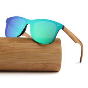 75854ef2f Moda Espelho OEM personalizados sem caixilho polarizado óculos de sol de  madeira 2019