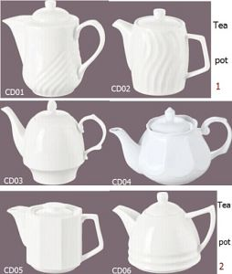 Porselein Tea Pot voor Hotel en Restaurant (CD01-06)