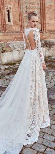 Amelie Rocky 2018 con el tren de encaje de sirena vestido de boda personalizado