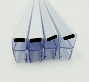 Ducha de fábrica populares de la puerta de cristal negro PVC cinta magnética.
