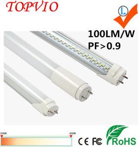 Cubierta de escarcha cubierta de la lechosa 140lm/W LED de 4 pies de la luz del tubo LED T8 18W