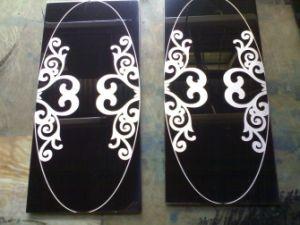 浴室の壁のPannleの装飾の黒ミラーの終わりのステンレス鋼シート