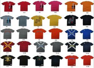 Ordine rotondo dell'OEM della maglietta del collo del manicotto del bicchierino del cotone del Mens (R1)