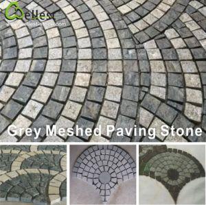 庭または私道のための自然な一致させた花こう岩または玄武岩またはスレートまたは胆ばんのファン形の敷石
