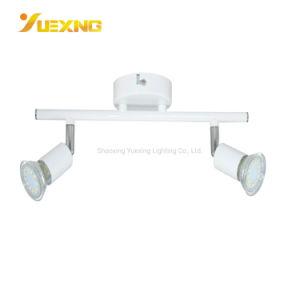 Las ventas directamente de fábrica barata blanco cálido interior GU10 LED blanco de la Base de hierro Faro de luz de foco LED de techo soporte
