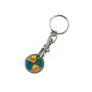 Supporto su ordinazione simbolico Keychain del metallo del carrello poco costoso all'ingrosso della moneta