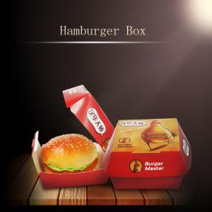 Comida plegable Embalaje Hamburger Hamburguesa de verificación de papel de contenedor de papel