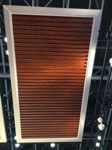 El aluminio u techo falso techo de madera prebarnizado Techos falso
