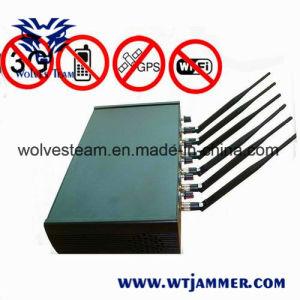 Regelbare Hoge Macht 6 Antenne WiFi & GPS & van de Cel de Stoorzender van de Telefoon