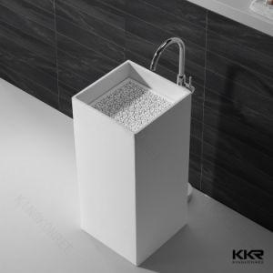 Sólido branco moderna casa de banho de superfície da bacia penduradas na parede