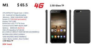 Celular OEM móvil 3G WCDMA celular 4G LTE FDD-Smart Phone