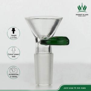 El verde de 18mm 14mm Cristal conjunto cuencos de cristal de macho de la moneda el tubo de gran pipa de vidrio