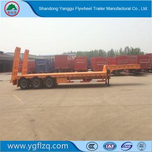 Lage Prijs die in Gooseneck van China 30t-100t Aanhangwagen van de Vrachtwagen van Lowbed de Semi met As 3 wordt gemaakt
