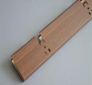 Soffitto lineare di alluminio del rullo del reticolo di legno impermeabile all'ingrosso del cappotto