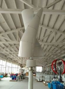 Moulin vertical solaire hybride résidentiel de turbine de vent 200W/vent/générateur de vent
