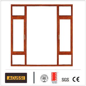 Алюминиевая дверная рама перемещена Windbreak окна Деревянные зерна на балкон с видом на Австралийский стандарт