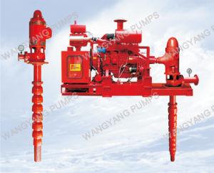 Дизельный двигатель Линия вертикального вала турбины пожарных водяной насос