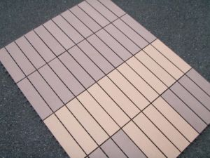 WPC Decking Tile, plataforma Systems de Square Type (300*300mm)