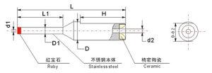 Superhardの合金のコイル巻線のノズル/ワイヤーノズル