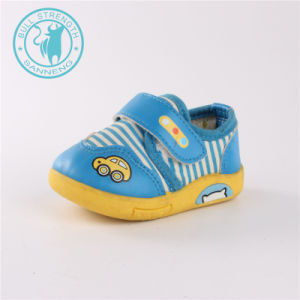 Детский обувь ЭБУ системы впрыска мягкий приятный шаблон обувь (SNC-002020)