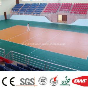 高品質のバレーボール6.5mmのための屋内緑の多機能のビニールの床