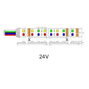 UL Ce D Línea Epistar LED SMD2835 RGBA tira flexible de luz