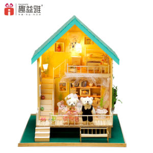 2 Stuk speelgoed van het Huis van Doll van de vloer het Mini Houten
