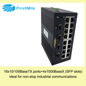 Гигабит выдвинул управляемый промышленный переключатель с Pts 746 портов 16+4G