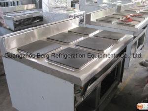 4개의 가열기 및 오븐을%s 가진 범위를 요리하는 전기 가열판