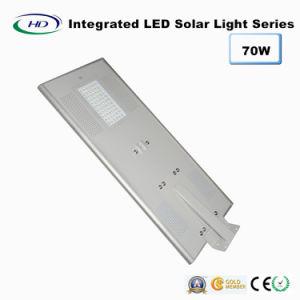 70W Ce & RoHS Certificado Sensor PIR LED Solar Integrado / Luz de calle