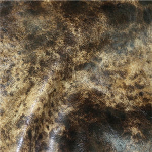 Exporta calidad en relieve de microfibra de cuero sintético para sofá tapizado Furnitre