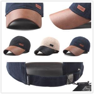 (LPM15180) LeatherのPromotional Wholesale Baseball Sport Cap