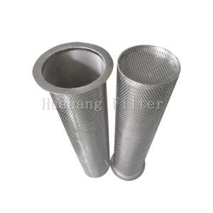 バスケットのこし器からのフランジを付けたようになったステンレス鋼の網の打つ版フィルター