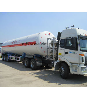 독일 현탁액 3 BPW 차축 액화천연가스 탱크 트레일러