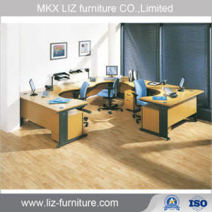 Estilo clásico Armario de oficina Estación de trabajo con Tabique de cristal 2110