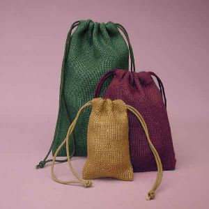 Dom coloridos bolsas de juta para roupa suja de embalagens para compras (CJB1138)