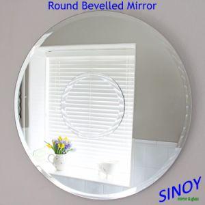 China espelho decorativo de borda chanfrada para banho ou aplicativos móveis de espelho de prata clara à prova de água