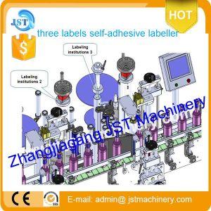 Tbj-100dの自己接着ステッカーのびんの分類機械