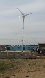 5kw éolienne horizontale et le Panneau Solaire système