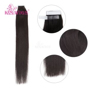 Hochwertige Band-Haar-Extensionen natürliches Remy Menschenhaar