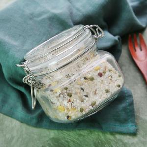 Gemeinsame Glasspeicherglas-Stau-Schnellflasche für Haus