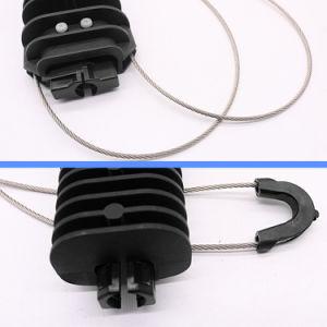 Cuña de plástico tipo abrazaderas de anclaje de cable ADSS